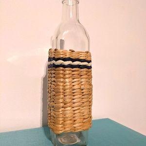 Navy & White Stripe Bud Vase NEW